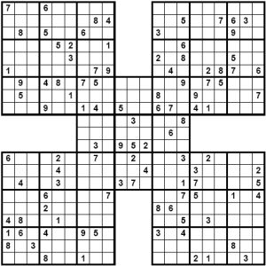 graphic relating to Sudoku Printable Grid identify Participate in Samurai Sudoku Puzzles